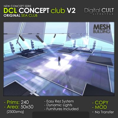 Second Life: CONCEPT Club V2 -- for Sale -- by DIGITAL Cult