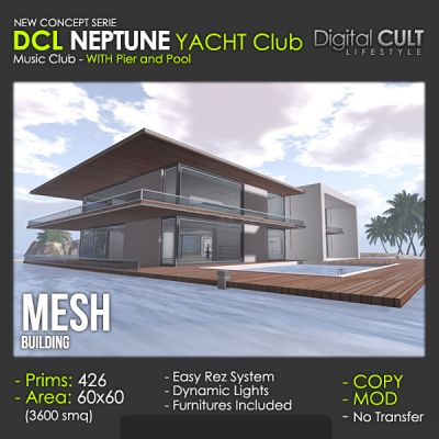 Second Life -NEW!- NEPTUNE Yacht Club- for sale by Digital CULT