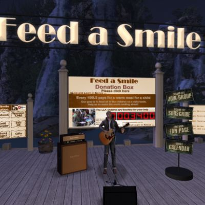 Aminius Writer playing for hungry children at The Lavendar Field ...
