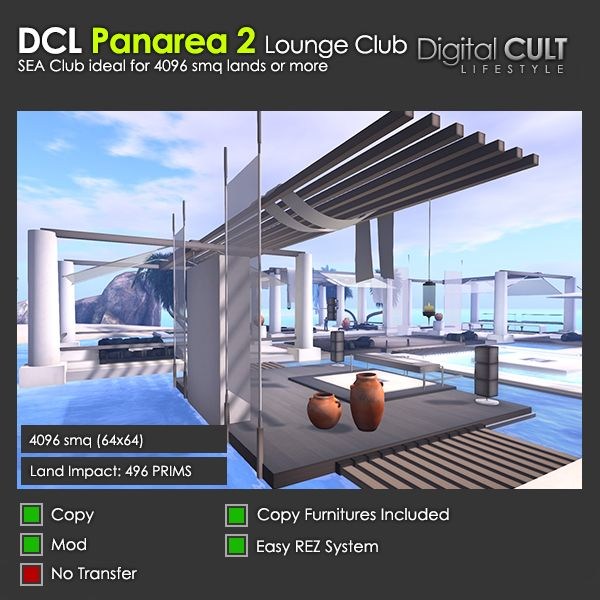 Second Life - Here's a new building! PANAREA 2 Lounge Club - for sale by Digital CULT
