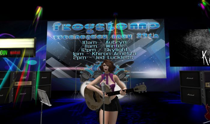 Aubryn Melody playing at Frogstomp Venue
