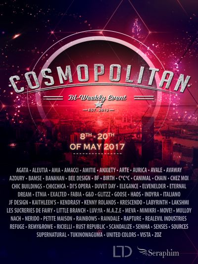 Cosmopolitan {Round 19/5} 8th - 20th May