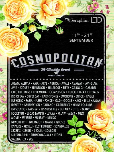 Cosmopolitan {Round 4/6} 11th - 23rd September