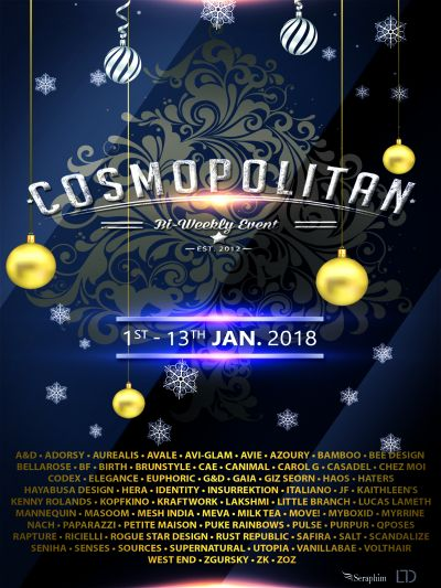Cosmopolitan {Round 12/6} 1st - 13th January