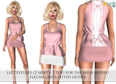 Working on lots of stuff lately, mostly customer requests having LOTS of fun !! https://marketplace.secondlife.com/p/Liz-Textures-for-FLECHA-Greta-Fitted-Outfit-Fullperm/11438793