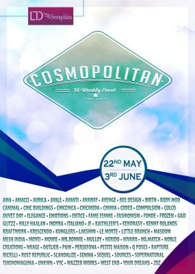 BRAND NEW COSMOPOLITAN ROUND IS HERE! \o/ Info coming soon @ http://cosmopolitansl.blogspot.com/ Or just come @ http://maps.secondlife.com/secondlife/No%20Comment Enjoy!