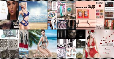 BRAND NEW COSMOPOLITAN ROUND IS HERE! \o/ You have two weeks to come on in, browse around and snap them all up before the round changes again on July 30th! Find all info @ http://cosmopolitansl.blogspot.com/2017/07/cosmopolitan-round-245-17th-29th-july.html Or just come @ http://maps.secondlife.com/secondlife/No%20Comment/131/61/22  Enjoy !
