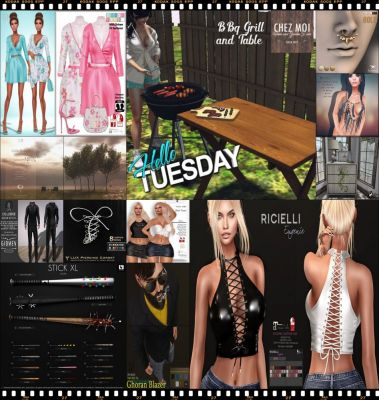 "TIME FOR  HELLO TUESDAY! JUST ONE DAY FOR 50L$ AND 50% OFF SALE DEALS! Find all info and direct SLurls @ http://cosmopolitansl.blogspot.com/2017/08/hello-tuesday-175-store-list-for-15th.html ""Hello Tuesday is weekly discount event with Cosmo stores, direct SLurls to every item you can find next to each vendor picture."" Enjoy!"