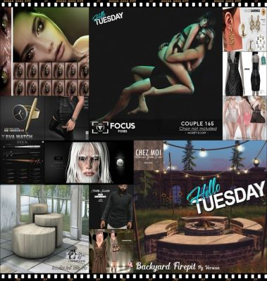 """TIME FOR  HELLO TUESDAY! JUST ONE DAY FOR 50L$ AND 50% OFF SALE DEALS! Find all info and direct SLurls @ http://cosmopolitansl.blogspot.com/2017/11/hello-tuesday-187-store-list-for-7th.html """"Hello Tuesday is weekly discount event with Cosmo stores, direct SLurls to every item you can find next to each vendor picture."""" Enjoy!"""