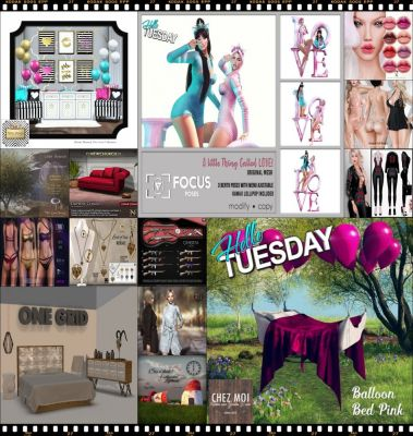 """TIME FOR HELLO TUESDAY! JUST ONE DAY FOR 50L$ AND 50% OFF SALE DEALS! Find all info and direct SLurls @ http://cosmopolitansl.blogspot.com/2018/02/hello-tuesday-200-store-list-for-13th.html """"Hello Tuesday is weekly discount event with Cosmo stores, direct SLurls to every item you can find next to each vendor picture."""" Enjoy!"""