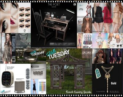 """TIME FOR  HELLO TUESDAY! JUST ONE DAY FOR 50L$ AND 50% OFF SALE DEALS! Find all info and direct SLurls @ http://cosmopolitansl.blogspot.com/2018/02/hello-tuesday-201-store-list-for-20th.html """"Hello Tuesday is weekly discount event with Cosmo stores, direct SLurls to every item you can find next to each vendor picture."""" Enjoy!"""