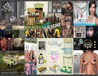 """TIME FOR  HELLO TUESDAY! JUST ONE DAY FOR 50L$ AND 50% OFF SALE DEALS! Find all info and direct SLurls @ http://cosmopolitansl.blogspot.com/2018/03/hello-tuesday-207-store-list-for-3rd.html """"Hello Tuesday is weekly discount event with Cosmo stores, direct SLurls to every item you can find next to each vendor picture."""" Enjoy!"""