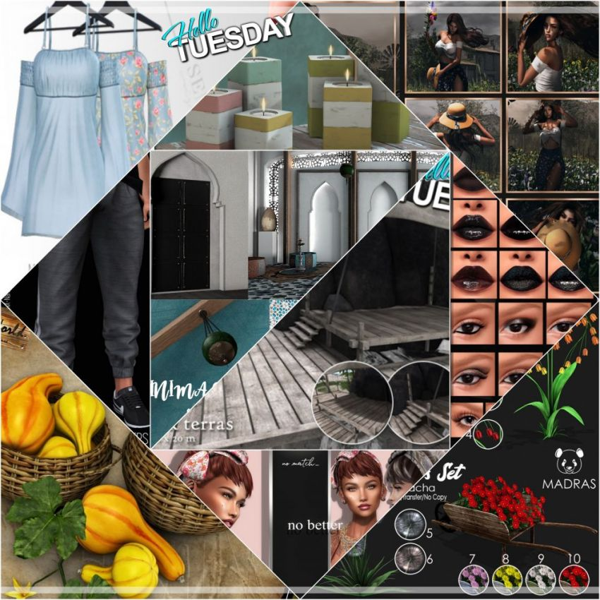 """TIME FOR  HELLO TUESDAY! JUST ONE DAY FOR 50L$ AND 50% OFF SALE DEALS! Find all info and direct SLurls @ https://cosmopolitansl.blogspot.com/2020/03/hello-tuesday-305-store-list-for-3rd.html """"Hello Tuesday is weekly discount event with Cosmo stores, direct SLurls to every item you can find next to each vendor picture."""" Enjoy!"""