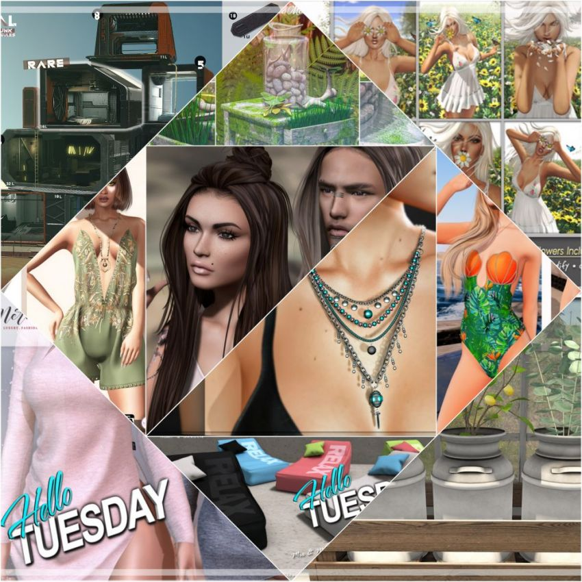 """TIME FOR  HELLO TUESDAY!JUST ONE DAY FOR 50L$ AND 50% OFF SALE DEALS!Find all info and direct SLurls @ https://cosmopolitansl.blogspot.com/2020/03/hello-tuesday-306-store-list-for-10th.html""""Hello Tuesday is weekly discount event with Cosmo stores, direct SLurls to every item you can find next to each vendor picture.""""Enjoy!"""