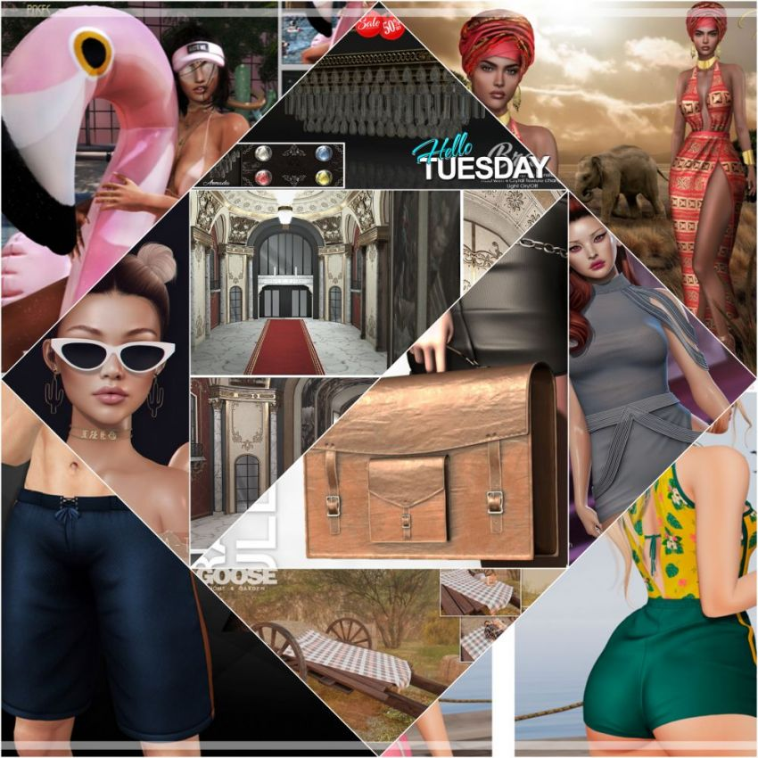 "⁣TIME FOR  HELLO TUESDAY! JUST ONE DAY FOR 50L$ AND 50% OFF SALE DEALS! Find all info and direct SLurls @ https://cosmopolitansl.blogspot.com/2020/06/hello-tuesday-321-store-list-for-23rd.html ""Hello Tuesday is weekly discount event with Cosmo stores, direct SLurls to every item you can find next to each vendor picture."" Enjoy!"
