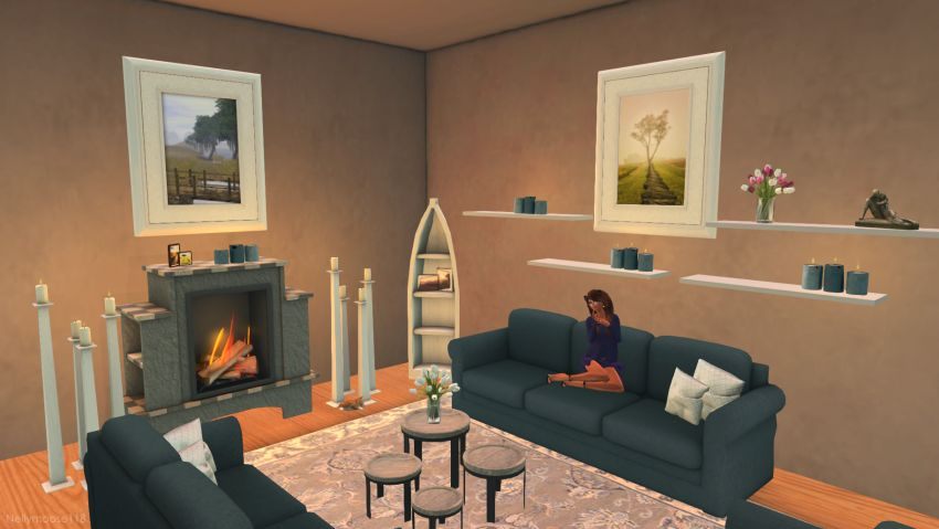 Enjoying the fire on these growing chilly nights :fire::blush: -- My blog: ⁣https://sashasecondlife.blogspot.com