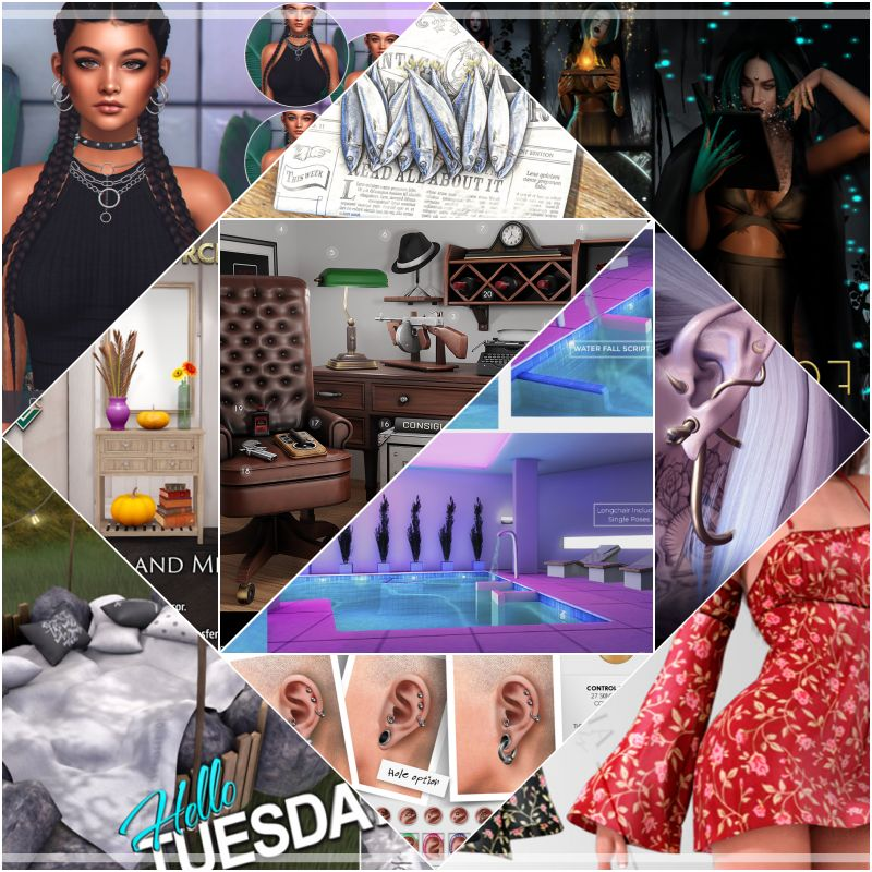 """TIME FOR  HELLO TUESDAY! JUST ONE DAY FOR 50L$ AND 50% OFF SALE DEALS! Find all info and direct SLurls @ https://cosmopolitansl.blogspot.com/2020/10/hello-tuesday-339-store-list-for-27th.html """"Hello Tuesday is weekly discount event with Cosmo stores, direct SLurls to every item you can find next to each vendor picture."""" Enjoy!"""