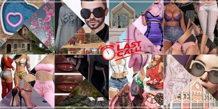 LAST DAY FROM CURRENT COSMOPOLITAN ROUND!Come check what Cosmopolitan have to offer before its all gone with new round 21st February!Gallery @ https://bit.ly/2MPO2LLLM @ http://maps.secondlife.com/secondlife/No%20Comment/131/61/22 Enjoy!