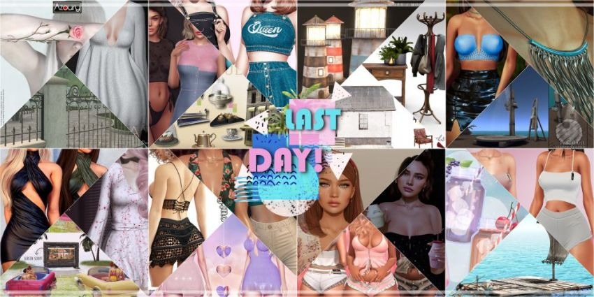 LAST DAY FROM CURRENT COSMOPOLITAN ROUND!Come check what Cosmopolitan have to offer before its all gone with new round 11th July!Gallery @ https://bit.ly/3qx77SgLM @ http://maps.secondlife.com/secondlife/No%20Comment/131/61/22Enjoy!