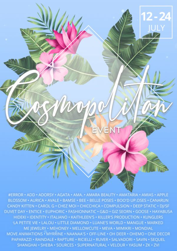 BRAND NEW COSMOPOLITAN ROUND IS HERE! \o/You have two weeks to come on in, browse around and snap them all up before the round changes again on 25th July!Gallery @ https://bit.ly/3wzZOuKLM @ http://maps.secondlife.com/secondlife/No%20Comment/131/61/22 Enjoy!