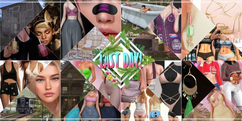 LAST DAY FROM CURRENT COSMOPOLITAN ROUND! Come check what Cosmopolitan have to offer before its all gone with new round 25th July! Gallery @ https://bit.ly/3wzZOuK LM @ http://maps.secondlife.com/secondlife/No%20Comment/131/61/22  Enjoy!