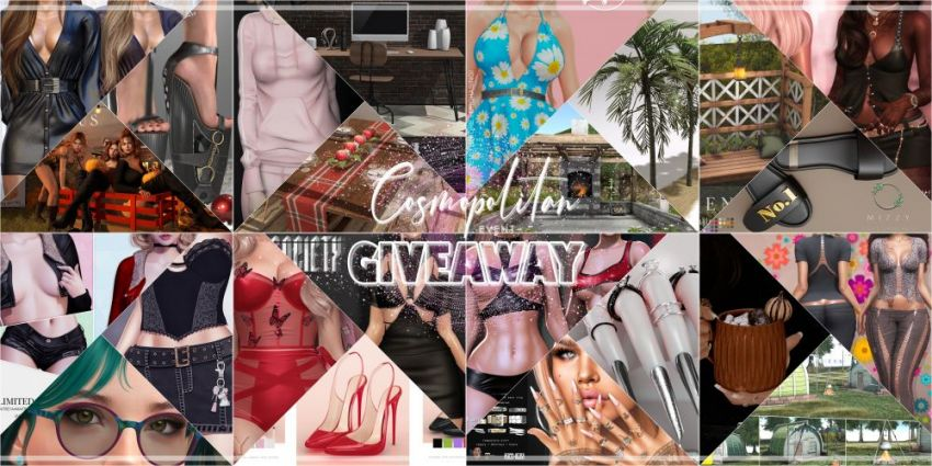 BRAND NEW COSMOPOLITAN ROUND AND GIVEAWAY! \o/Gallery @ https://bit.ly/3tV5NumGiveaway @ https://bit.ly/3zwOSPKLM @ http://maps.secondlife.com/secondlife/No%20Comment/131/61/22 Good luck everyone!